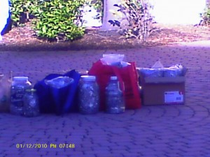 We've collected over 400 pounds of soda tabs over the last five years.