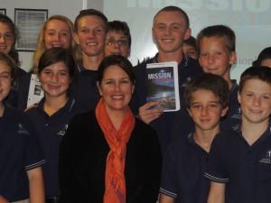 Author Liz Lantigua visits our middle school classes