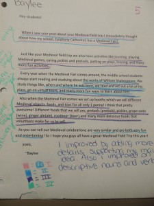 Analyzing and evaluating our writing